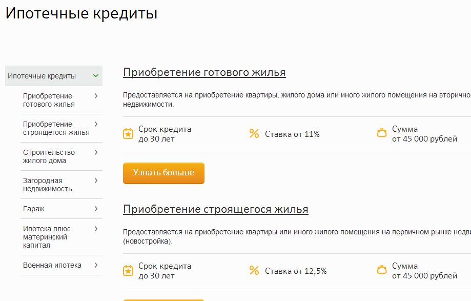 «Сбербанк России» Ипотека ипотечное кредитование