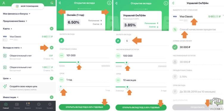 сбербанк вклад зеленый день онлайн