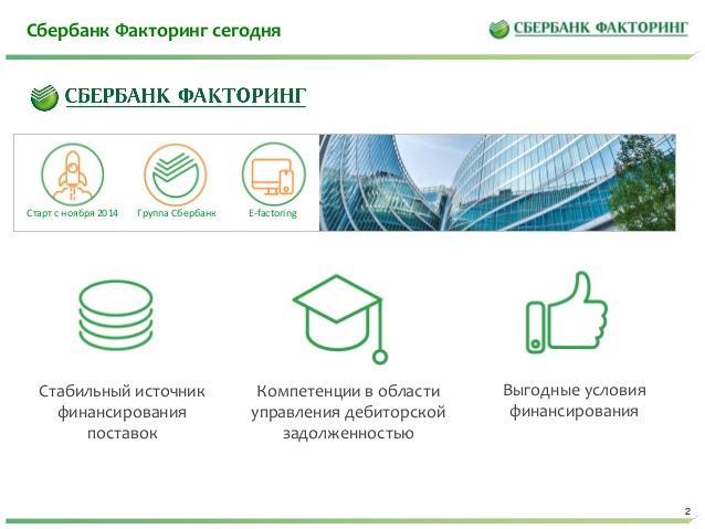 сбербанк факторинг онлайн